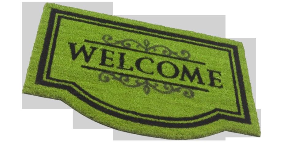 """Foto deurmat """"Welkom"""""""