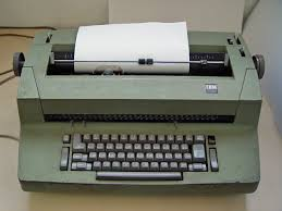 Plaatje van een schrijfmachine.